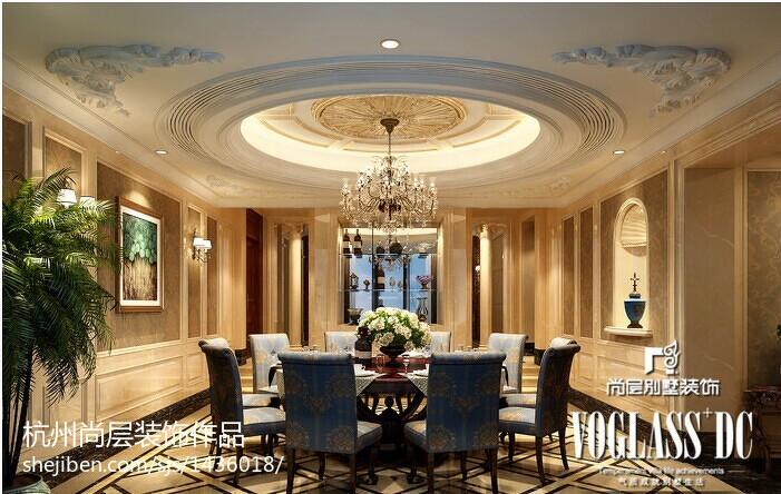 143平米美式别墅餐厅装修实景图片