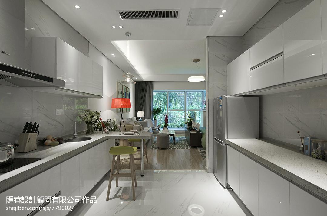 现代风格样板间厨房装修效果图大全2017图片