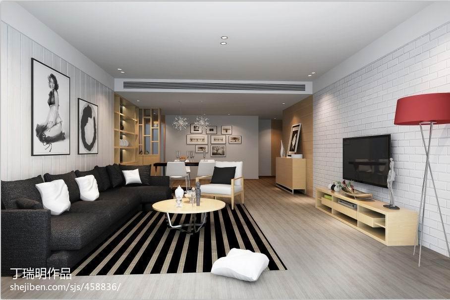 现代灰色之家客厅局部装修