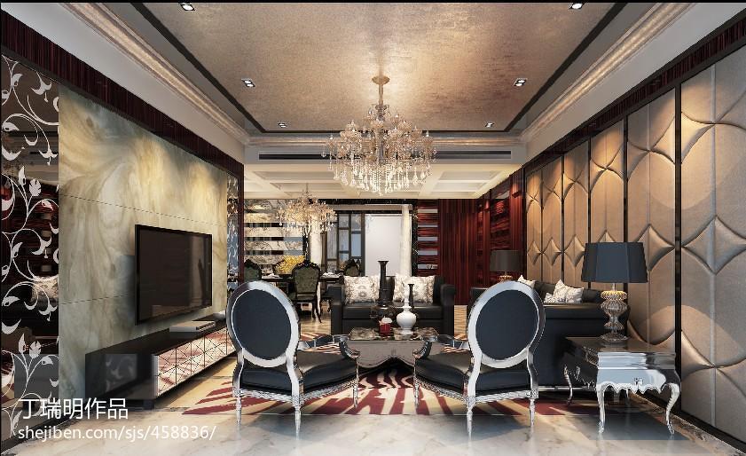 现代灰色之家客厅沙发装修
