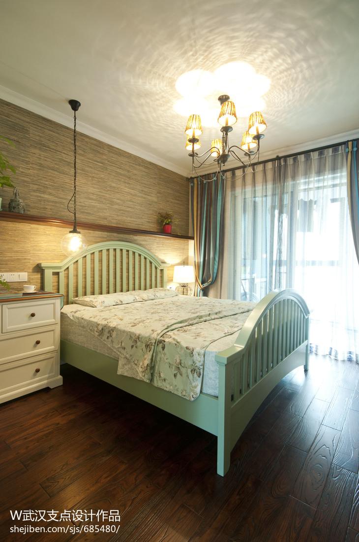 美式风格家装卧室背景墙装修效果图大全2017图片