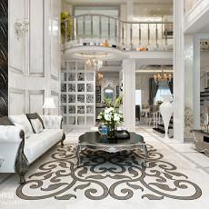 精美面积136平复式客厅欧式装修图
