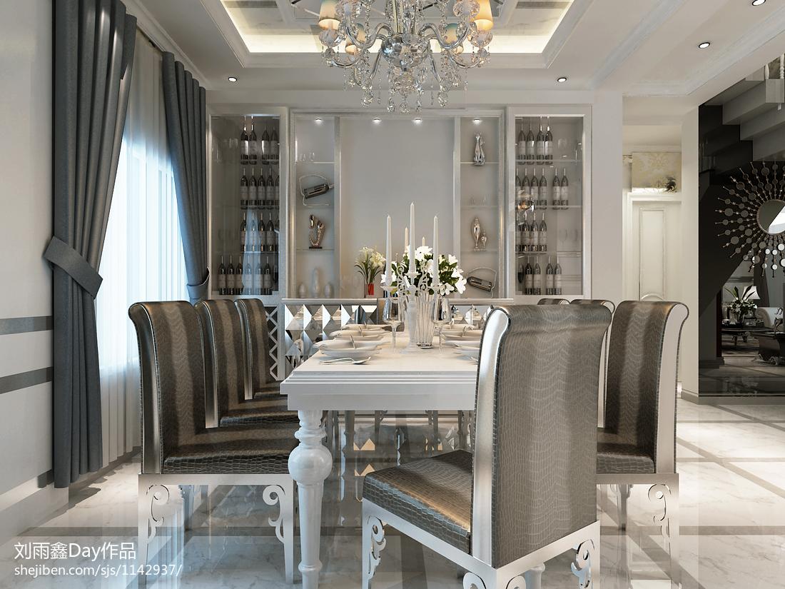 热门141平米欧式复式餐厅装修图片