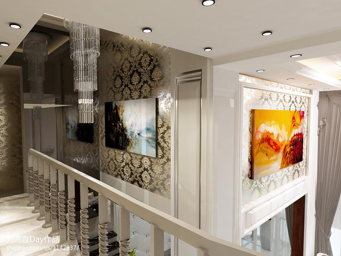 热门127平米欧式复式过道实景图片欣赏