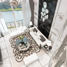 热门面积143平复式客厅欧式实景图片