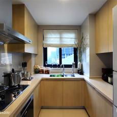 现代简约三居室厨房装修效果图大全2017图片