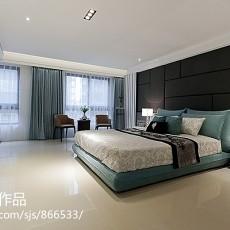 精美134平米现代别墅卧室装修实景图