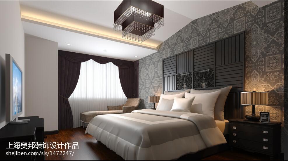 2018中式复式卧室装修设计效果图片大全