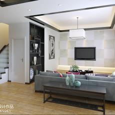 精美面积121平复式客厅中式实景图片大全