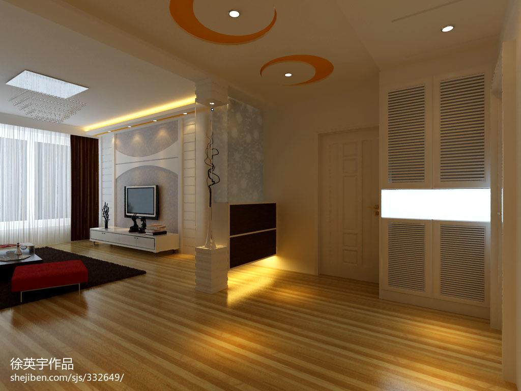 家装新古典软包卧室效果图