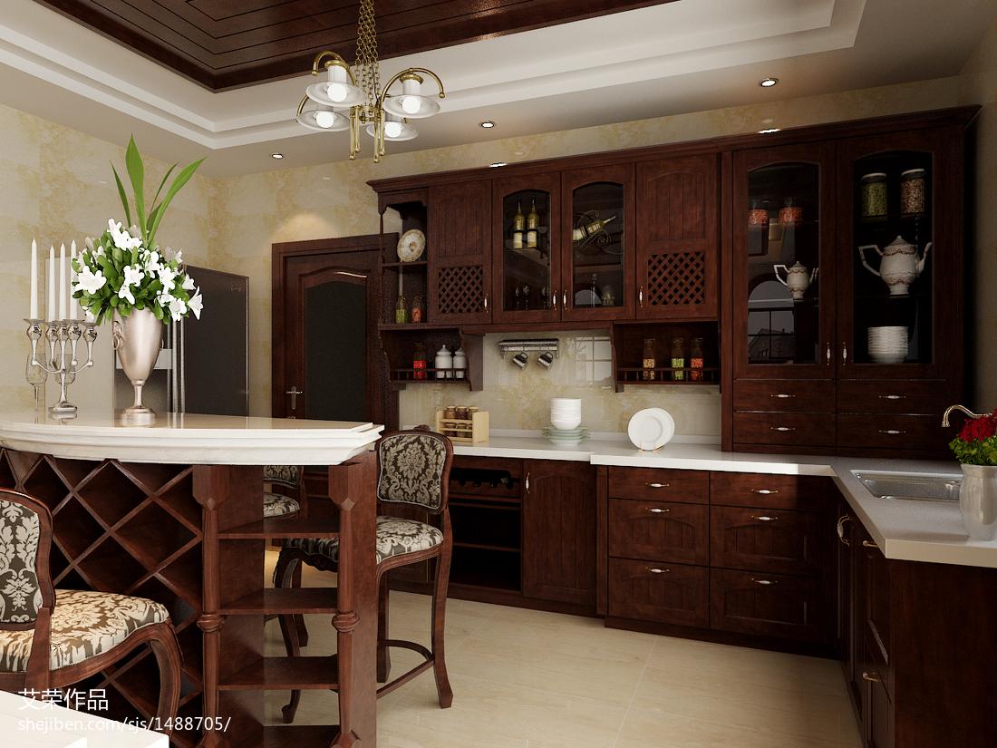 欧式餐厅厨房设计效果图