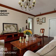 2018精选96平方三居客厅美式效果图片欣赏