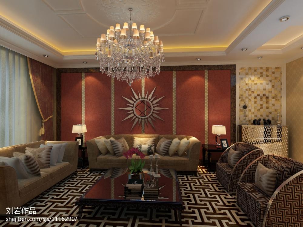 美式大宅客厅装修展示