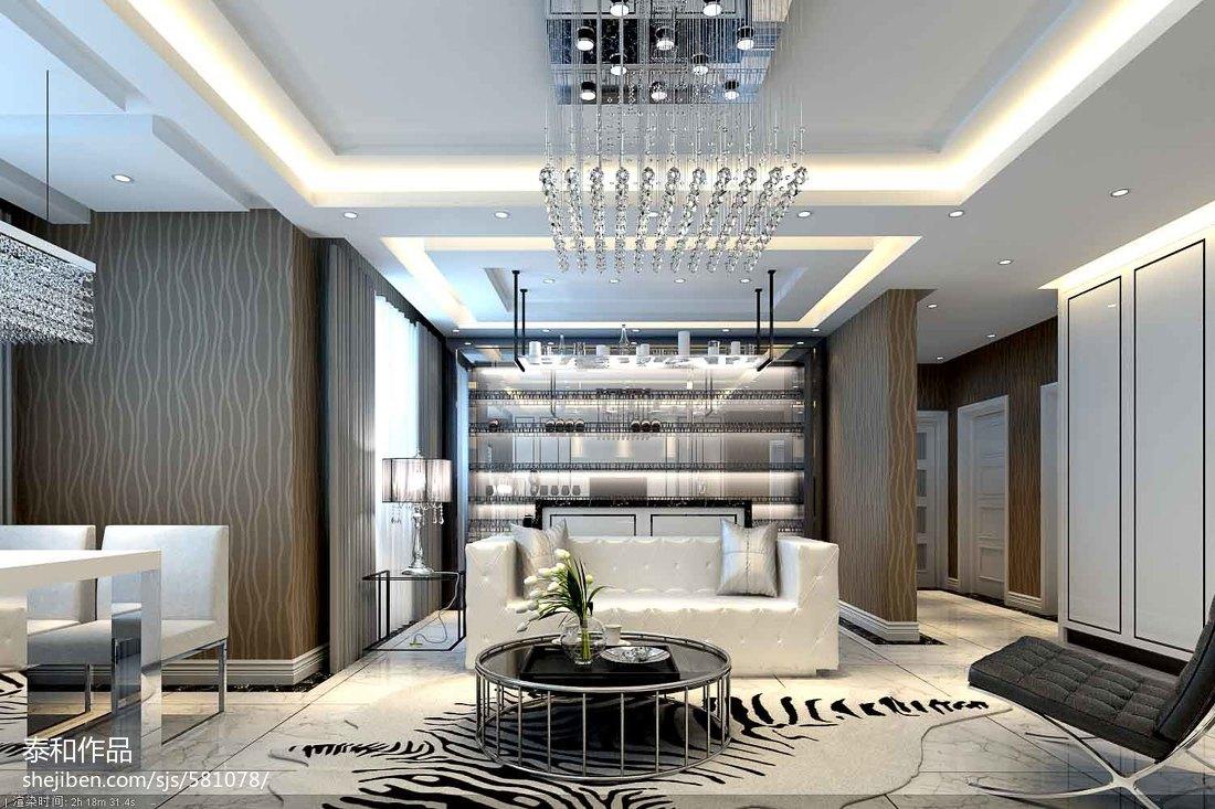 热门105平客厅三居现代实景图片