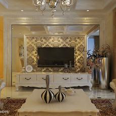 精选大小91平欧式三居客厅装修设计效果图