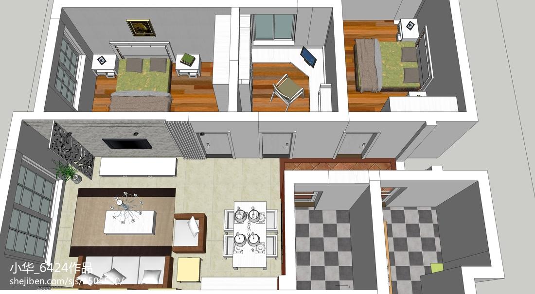 田园混搭风格卧室设计