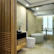 中式卫生间装修图片