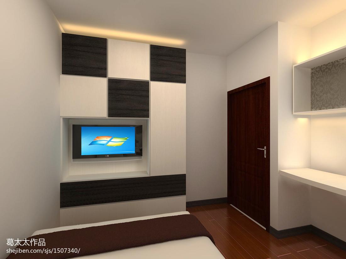 精选面积75平小户型卧室混搭装修实景图片