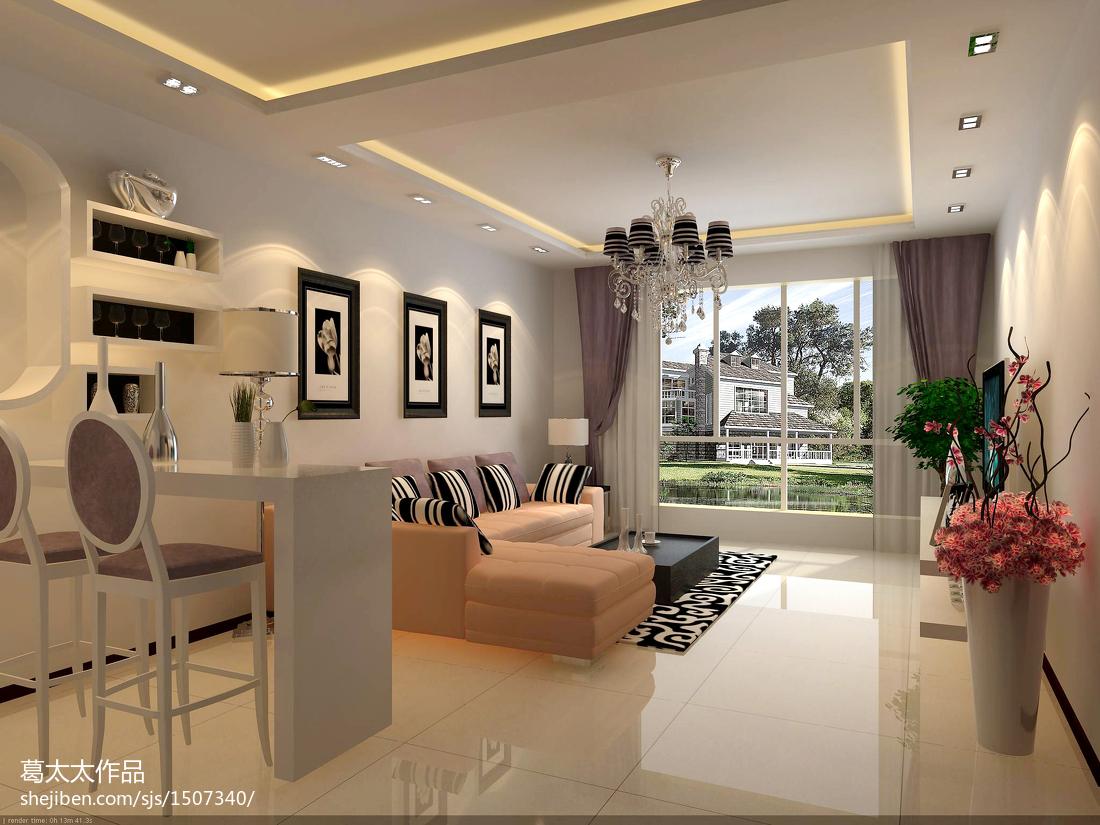 80平米混搭小户型客厅装饰图片