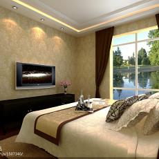 72平米混搭小户型卧室实景图片
