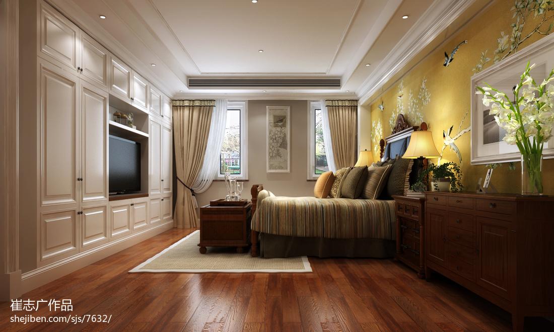 热门110平米欧式别墅卧室实景图片大全