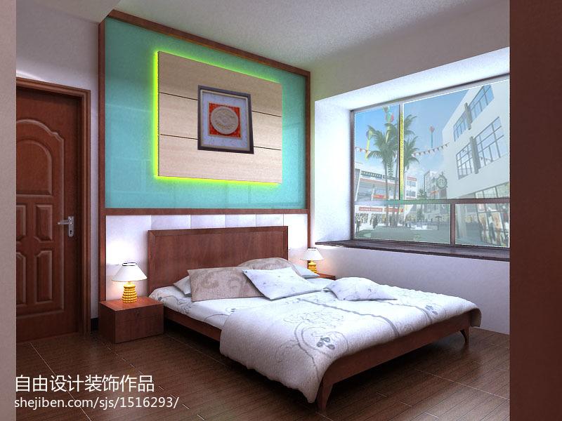 中式板式床装修效果图