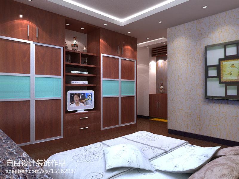 2018精选大小100平中式三居卧室装饰图