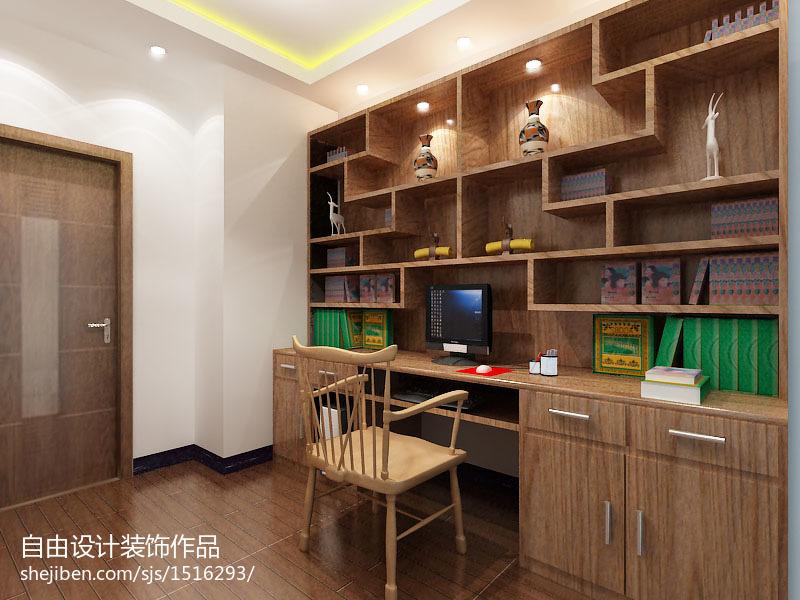 书房浅色橱柜住房装修效果图