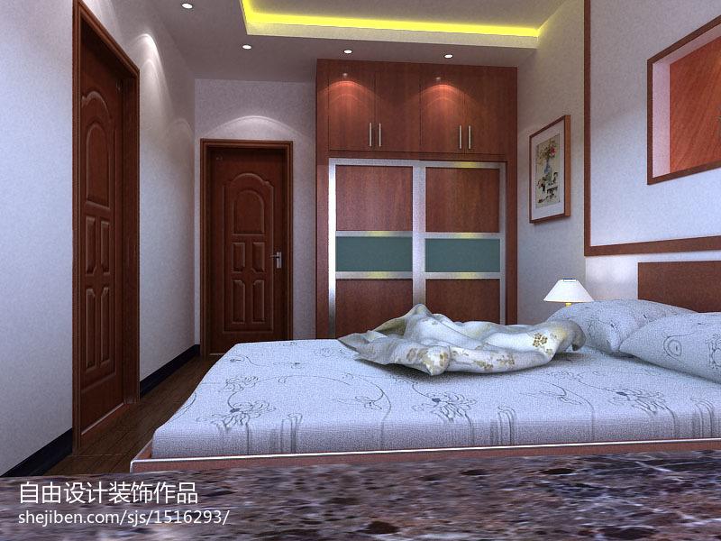 大小95平中式三居卧室实景图片