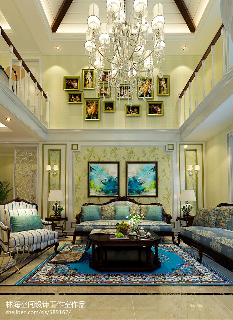 热门面积130平复式客厅混搭装修设计效果图片