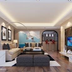100平大小客厅三居现代装修图