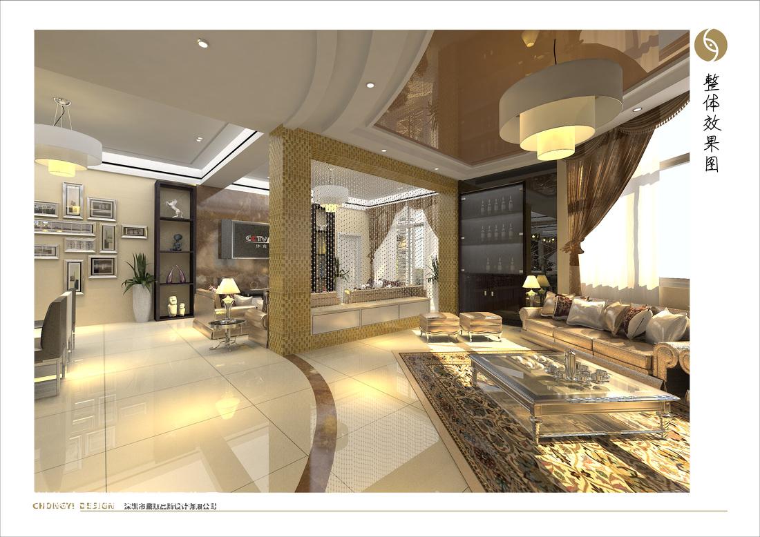 简欧风格别墅室内餐厅装饰设计图片