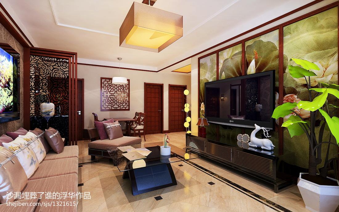 二居客厅中式效果图片