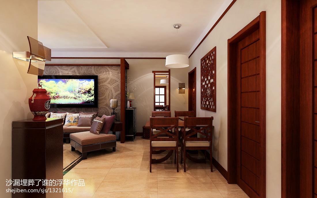 精选二居客厅中式装修效果图片欣赏
