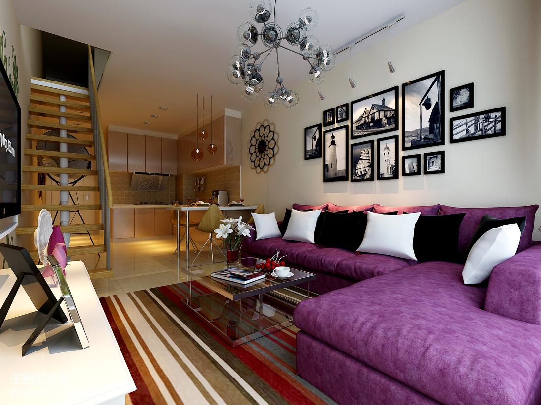 小户型客厅沙发照片墙装修效果图大全