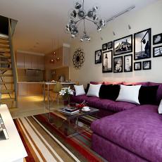 精选面积80平小户型客厅现代装修效果图