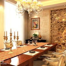 热门117平米欧式别墅餐厅装修实景图