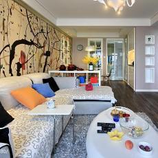 精选77平米二居客厅现代装修图片大全