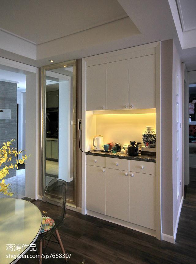 精选88平米二居餐厅现代装修效果图片欣赏