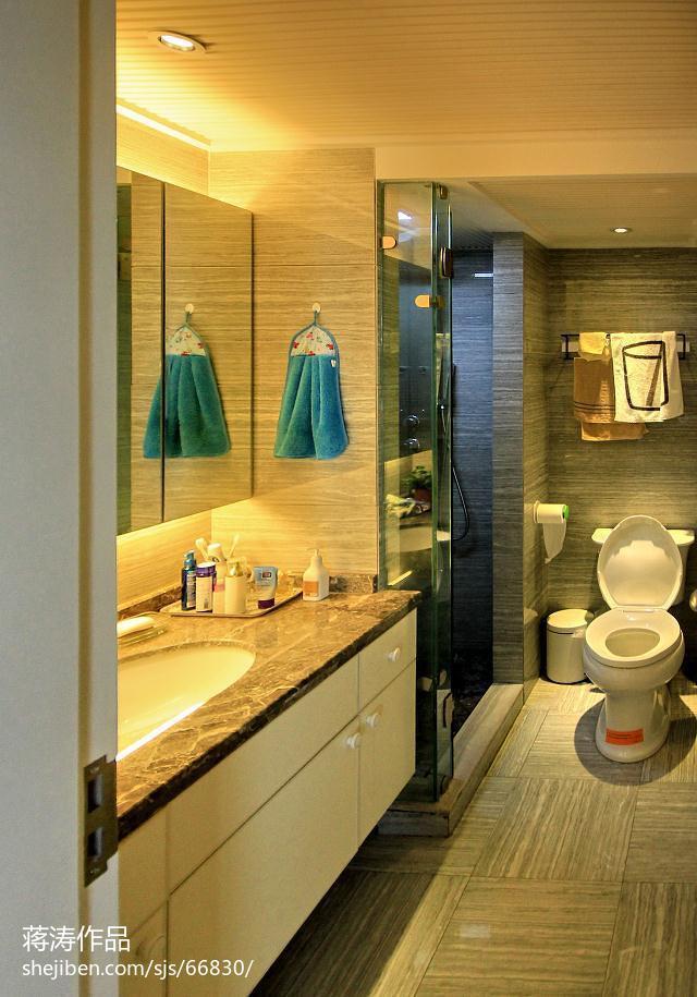 74平米二居卫生间现代装修实景图片