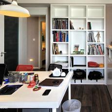 热门86平米二居书房现代装修效果图