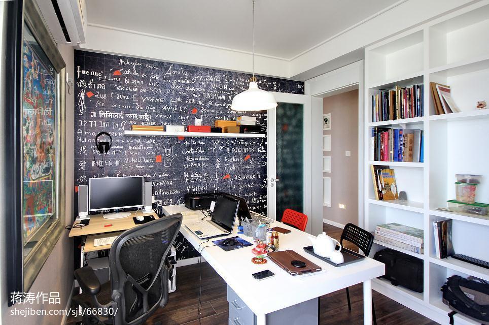 热门85平米二居书房现代装修效果图片欣赏