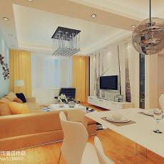 精选86平方二居客厅现代效果图