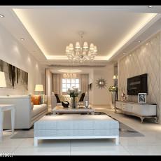 大小107平欧式三居客厅装饰图片大全