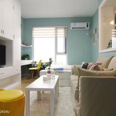 2018精选面积77平小户型客厅现代装修设计效果图片