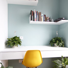 现代小户型书房装饰图片