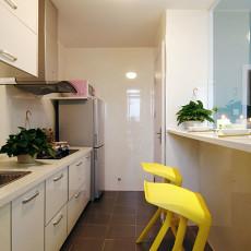 精美面积80平小户型厨房现代装修设计效果图片欣赏