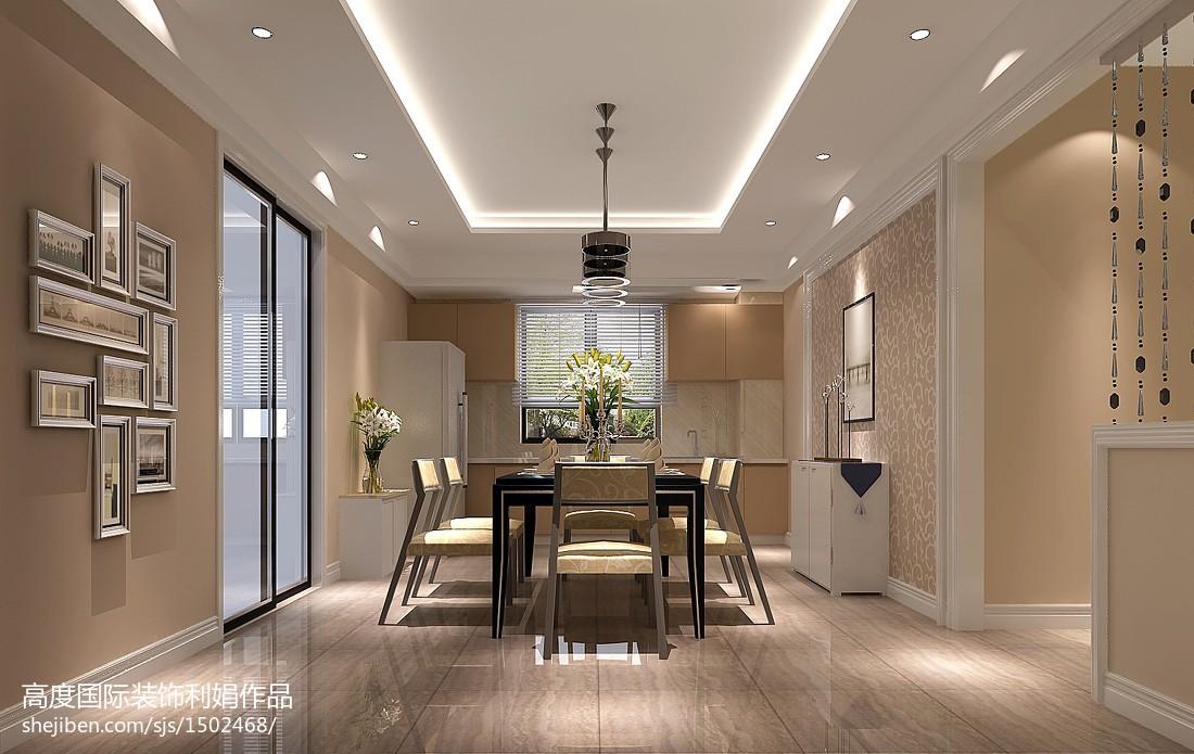 精美大小98平中式三居餐厅装修效果图片