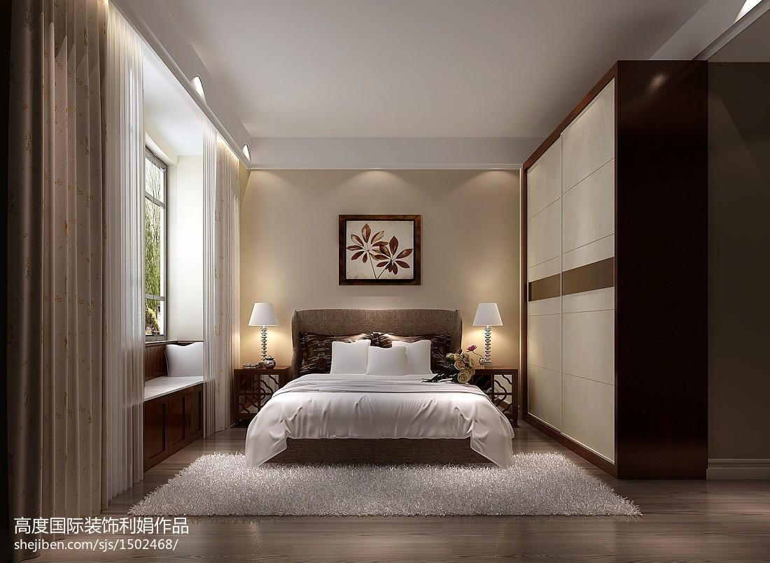 热门中式三居卧室装修效果图片
