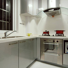 热门二居厨房现代欣赏图片